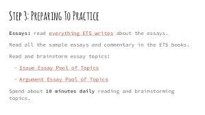 ets gre essay topics vince kotchians do it yourself gre study plan