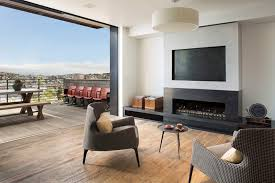 feldman architecture photo with an ortal fireplace