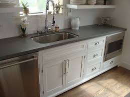 shaker style cabinets and concrete gray quartz countertop kitchens with regard to grey countertops decor 1