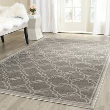 safavieh amherst collection amt412c grey and light grey indoor outdoor area rug 4 x 6 kitchen
