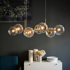 staggered glass chandelier 8 light west elm
