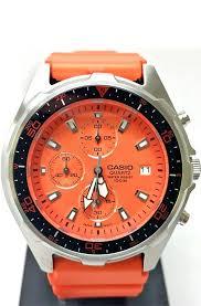 casio amw 380 4a mens orange dial chronograph 100m diver watch casio amw 380 4a mens orange dial chronograph 100m diver watch