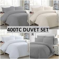 details about luxury 400tc duvet cover 100 egyptian cotton double super king size bedding set