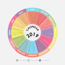 2019 Calendar Template.circle Calendar Template.calendar 2019 Se ...