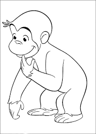 Draw Curious George Coloring Home