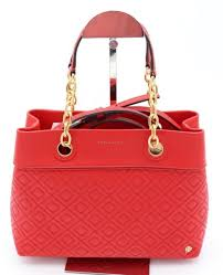 nwt tory burch fleming red leather small tote satchel shoulder bag 46164 498