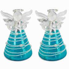 Details Zu Christbaumschmuck Weihnachtsengel Glas Türkis Mit Perlen 8 Cm 2er Set Engel