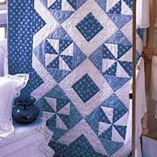 Quilt Patterns For Free Cool Blue Breeze FREE Classic Blue And White Quilt Lap Quilt Pattern