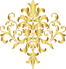 Gold Damask Background Damask Clip Art Gold Background Png Download 744 766