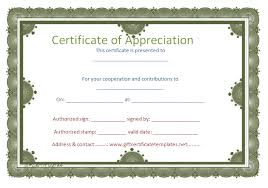 free templates for certificates of appreciation circle border certificate of appreciation template certificate of