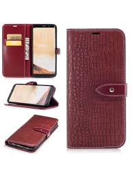 chic crocodile grain pu leather phone cover case wallet pocket for samsung galaxy s8 plus