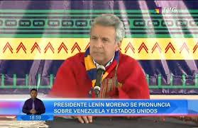 Lenín Moreno le brinda apoyo a Venezuela