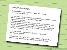 How To Make Resume For Job Enchanting 60 Ways to Make a Resume wikiHow