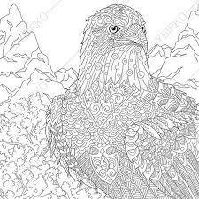 Small Picture Eagle Hawk Falcon Bird of prey Adult by ColoringPageExpress