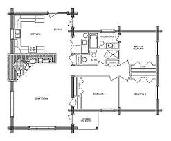 pioneer log home floor plan main