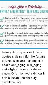 Quotes About Aging Fascinating ONTHLY QUARTERLY SKIN CARE CHECKI V Get A Facial To Clean Out Your