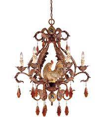 savoy house clyde 6 light chandelier in relic rust w hand painted accents 1 590 6 125