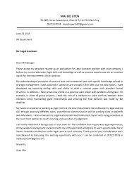 Awesome Collection Of Uyen Mai Cover Letter Legal Assistant In