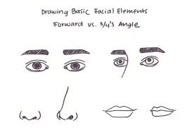Face Perspective Chart How To Draw Faces At A 3 4s Angle My 4 Step Process