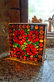 8 x stained glass mosaic glass block