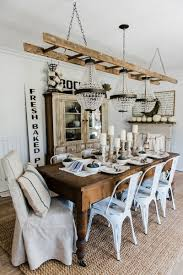 simple neutral fall dining room lovely farmhouse rustic cote style