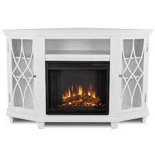 real flame 1750e w lynette corner indoor ventless electric fireplace in white