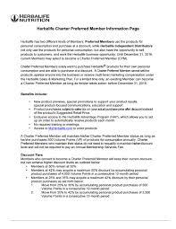 Herbalife Charter Preferred Member Information Https