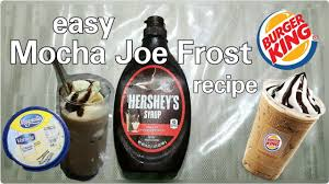 Some are literally coffee plus ice and maybe a splash of milk while others are more akin to milkshakes with a splash of coffee. How To Make Mocha Joe Frost From Burger King Easy Recipe Youtube