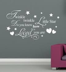 >twinkle twinkle little star wall stick baby room decor love poster  twinkle twinkle little star wall stick baby room decor love poster pvc adhesive wallpaper removable wall art removable wall art decals from garden1988