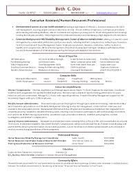 Fair Human Resource Resume Skills for Your Resume Template Human Resources  Executive