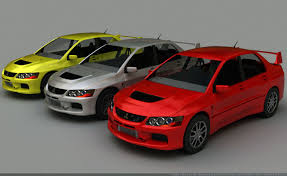 model car mitsubishi evo