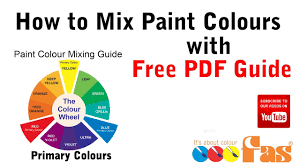 how to mix paint colours tutorial with free pdf chart diy for beginners