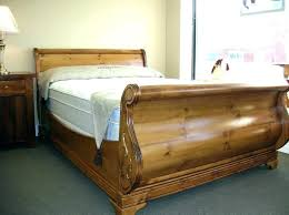 wooden sleigh bed wood sleigh bed king size cherry wood king size sleigh bed queen size