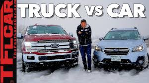 Truck or Car: What's Better in The Snow? - YouTube