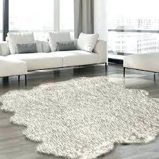 white rug faux fur area luxury gray tip furniture sheepskin 8x10 safavieh new wool r