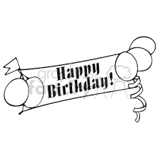 Happy Birthday Clipart Free Black And White Great Free Clipart