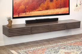 floating wall mount tv stand for 60 to 80 tvs lotus 3 piece for wall mount