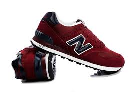 new balance shoes red and blue. new balance 574 men running shoes suede and mesh upper wine red blue