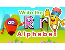 How To Right A Letter Simple How To Write Letter Rr Alphabet Lesson For Kids Writing Alphabets