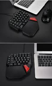 AVATTO 38-Key Single Hand USB Wired Backlit <b>Gaming Keyboards</b> ...