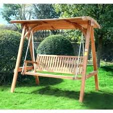 wooden swinging benches garden swing bench en marvelous 1 swings with canopy seat set plans wood