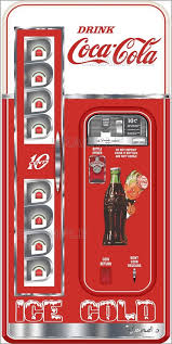 Coca Cola Mini Vending Machine Cool COCA COLA MACHINE AND GOOD HUMOR PRINTED ADHESIVE VINYL DECAL FRIDGE