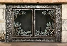 cast iron fireplace cover pine bough fireplace screen peter fireplace screens with doors antique cast iron