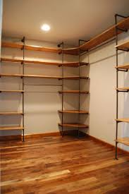 manly improved storage capacity for pipes with wood closet shelves how to customize a closet in