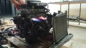 Running Toyota engine 1SZ-FE out of car - YouTube