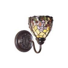 dale tiffany jacqueline fancy 1 light white sconce with art glass shade