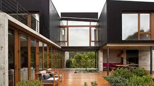 Wonderful Modern Architecture Of Home Ideas With Rustic Touch Using Wood  And Stone Material