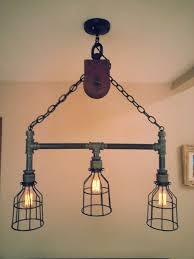 industrial lighting diy. Edison Lighting Industrial Diy Hanging Pipe Pulley Light With 3 By Desertandiron Home Design U