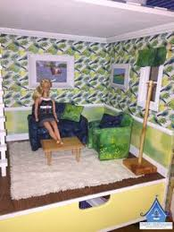 the finished barbie sized furniture really set off the room i ll