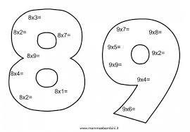 Schede Di Matematica Sulle Tabelline Da Stampare Mamma E Bambini